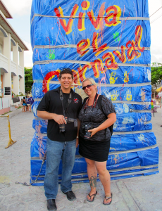 Photo of the Day: Carnaval with Ambergris Today Editor in San Pedro, Belize