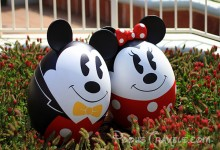 Mickey and Minnie as Easter Eggs during Tokyo Disneyland's Easter Wonderland Celebration