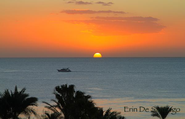 Sunrise from The Ritz-Carlton in Sharm El Sheikh, Egypt