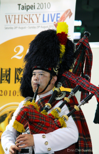 Photo of the Day: Bagpipe Player at Taipei 'Whisky Live' Convention