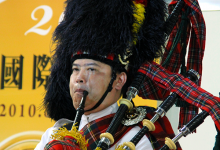 Bagpipe player at Taipei Whisky Live