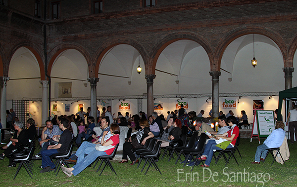 Thanks to our guide in Ferrara, we were treated to a night at her friend's Eco Food Festival -- a first for the city!