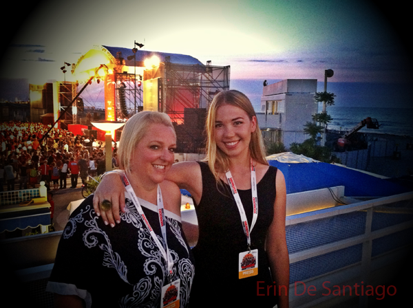 Nicola and I at press dinner and concert during Ducati's World Ducati Week 2012 in Riccione, Italy,