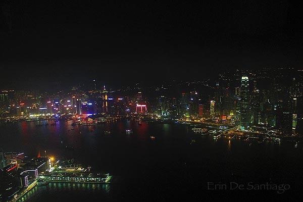 View from 115th floor room at The Ritz-Carlton, Hong Kong