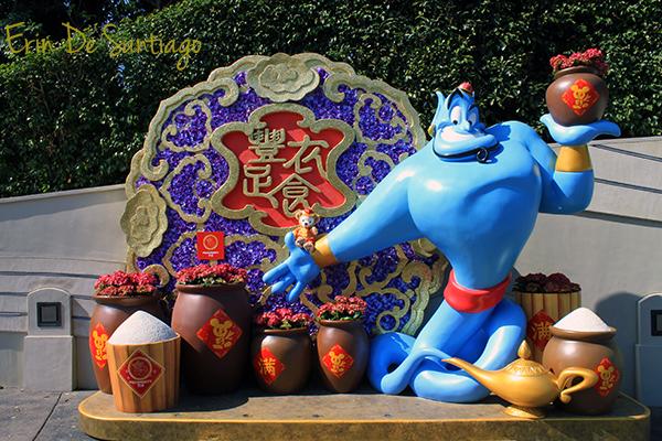 Chinese New Year decorations Hong Kong Disneyland