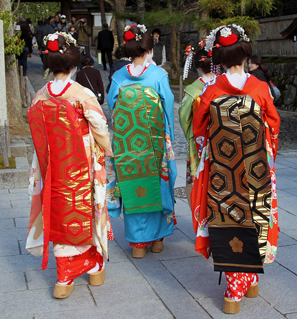 Kimonos in Kyoto, Japan