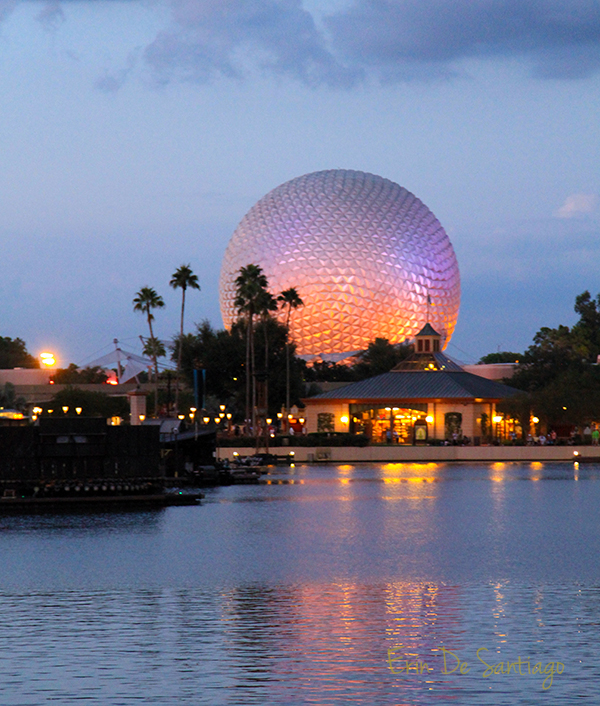 Epcot at sunset