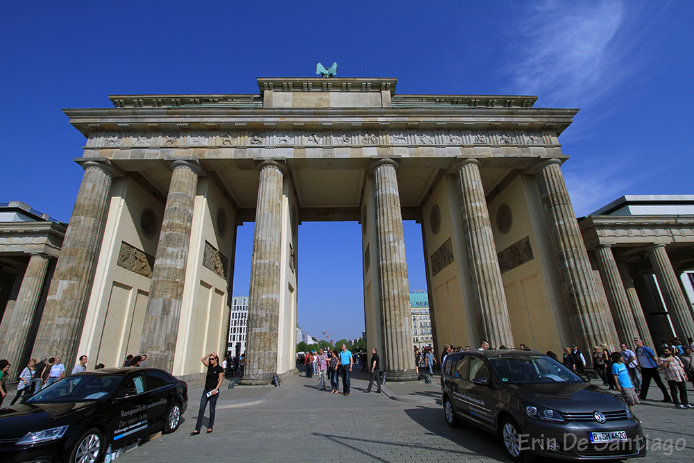 Other side of Brandenburg Gate in Berlin