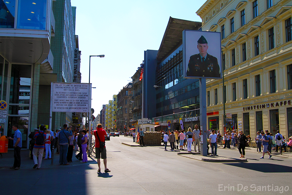 Entering Checkpoint Charlie