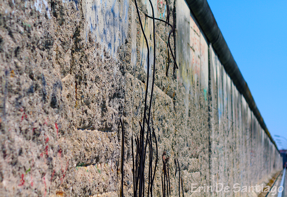 Close up of the Berlin Wall still intact