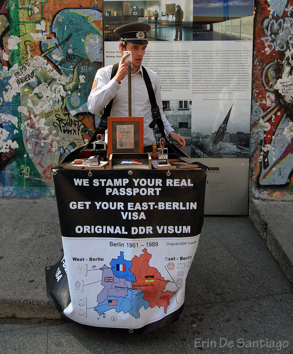Carrying your Passport? There is a guy who will stamp it with an East Berlin visa.