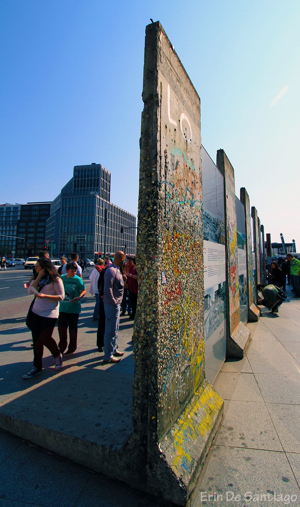 Portions of the Berlin Wall still stand in Potsdamer Platz