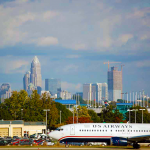 Charlotte Skyline from the airport (Photo: Wikimedia, Russavia)