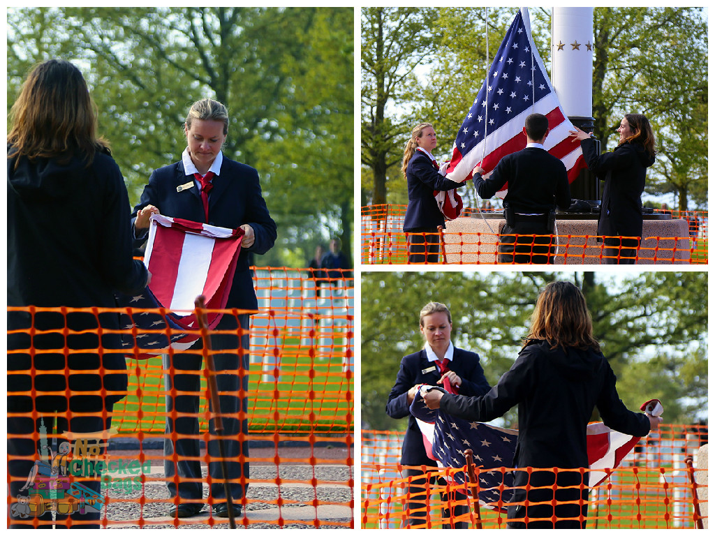 Flag Lowering Ceremony Normandy American Cemetery