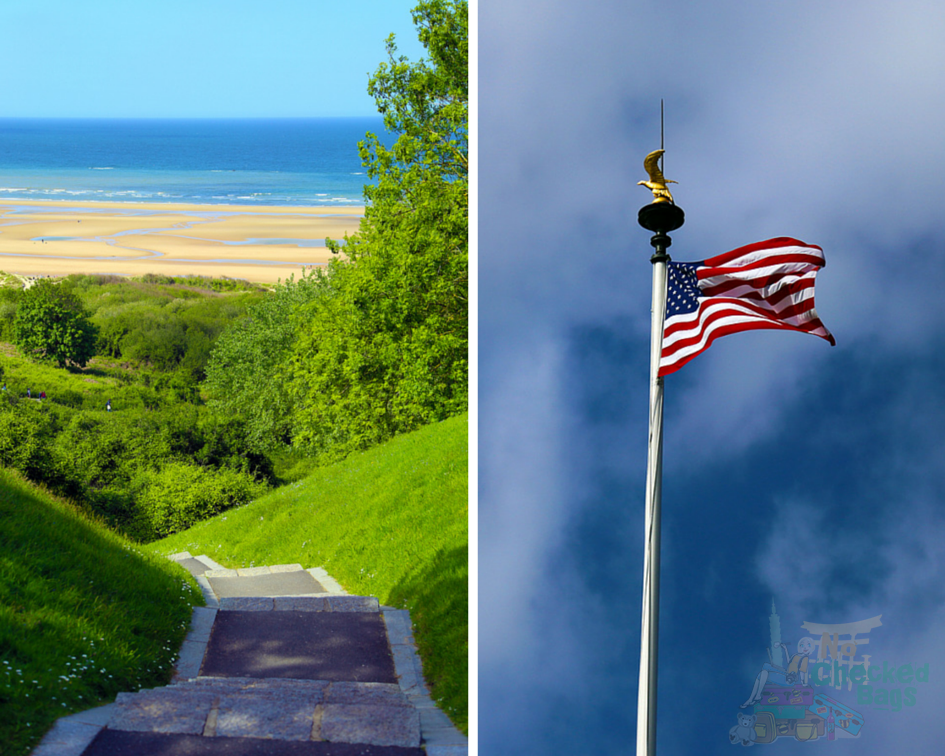 Normandy Omaha Beach American Flag
