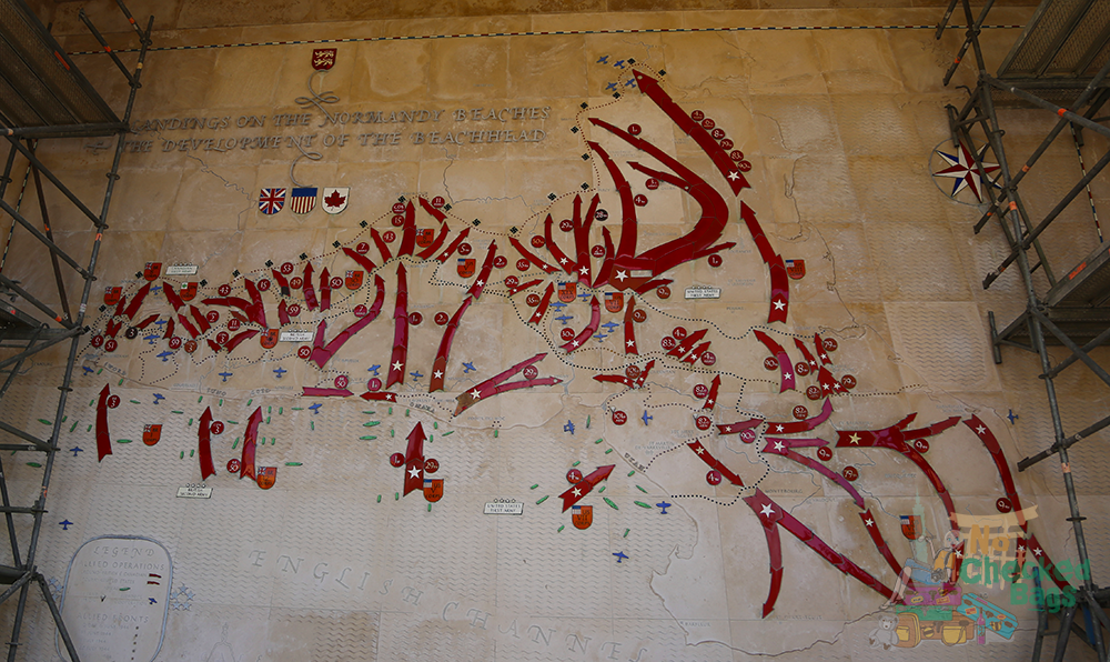 Battle Maps Normandy American Cemetery