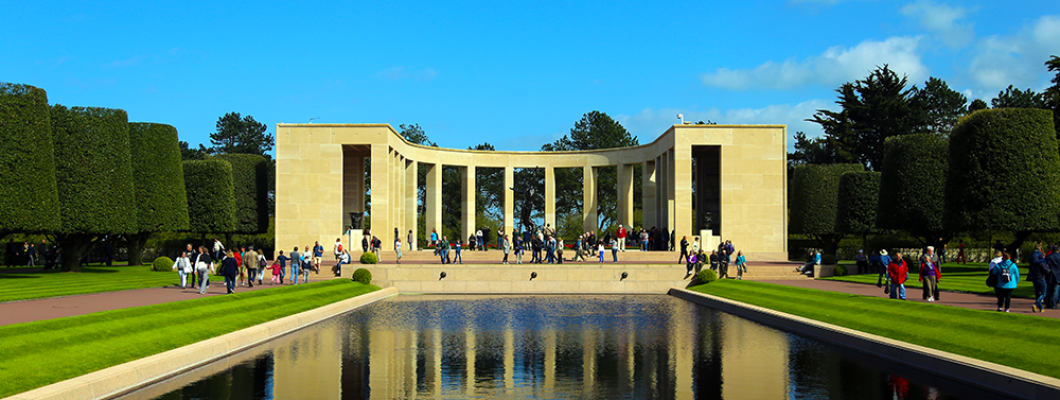 American War Cemetery and Memorial in Normandy, France