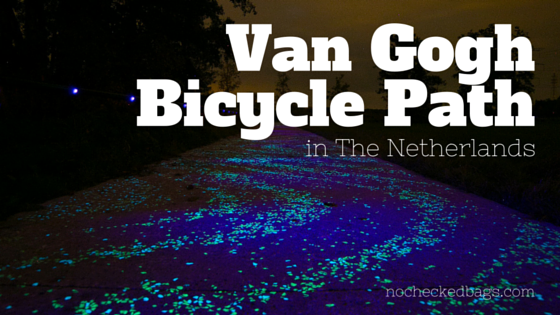 Van Gogh Starry Night Bicycle Path in the Netherlands - nocheckedbags.com