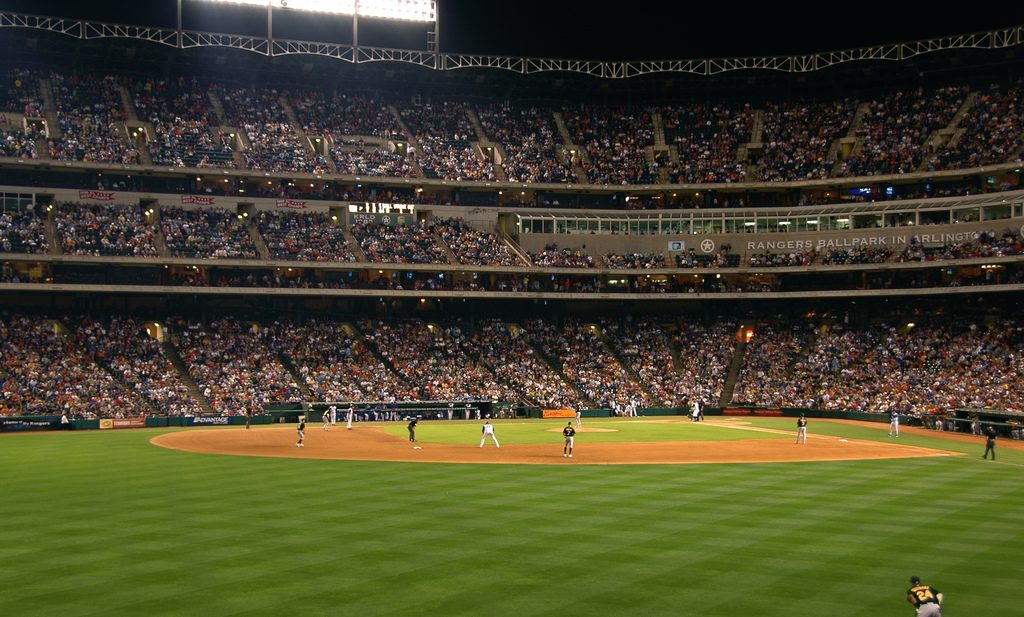 Rangers' Ballpark in Arlington, Texas. (Photo, flickr Rich Anderson)